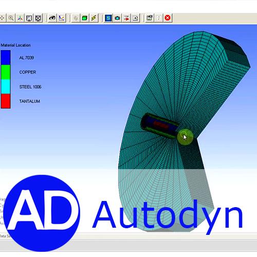 انجام پروژه با نرم افزار اتوداین(AUTODYN)