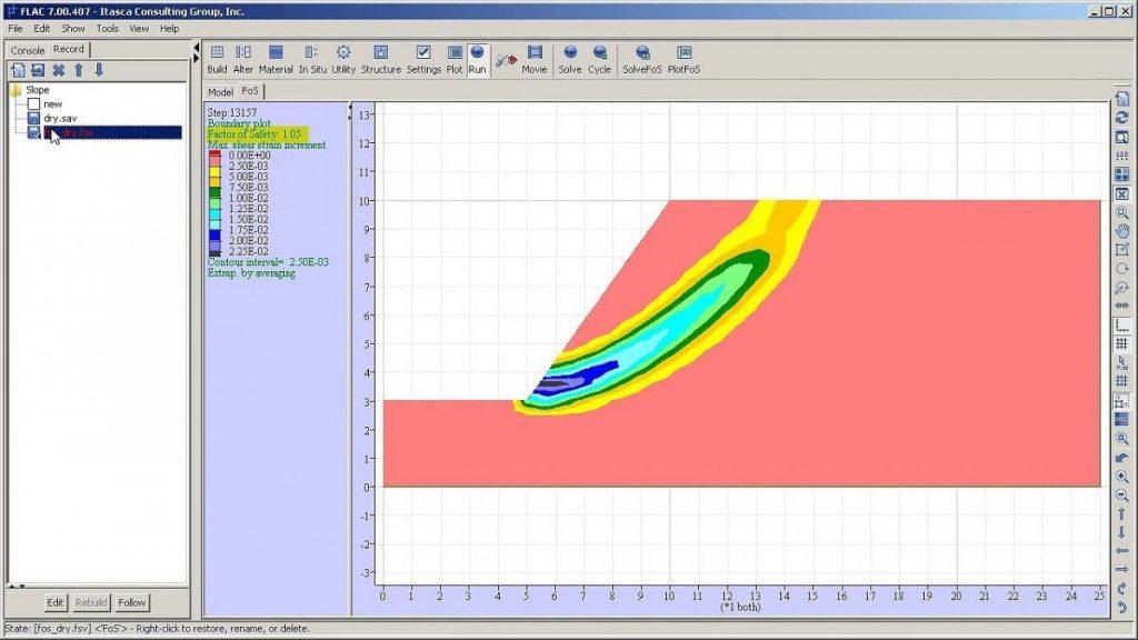 مدلسازی به روش تفاضلات محدود در فلک (Flac)